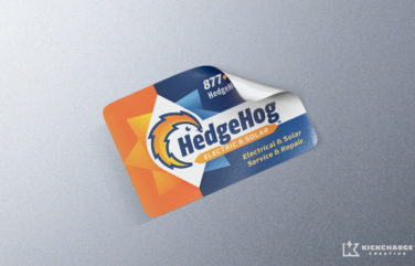 equipment sticker for HedgeHog Electric & Solar