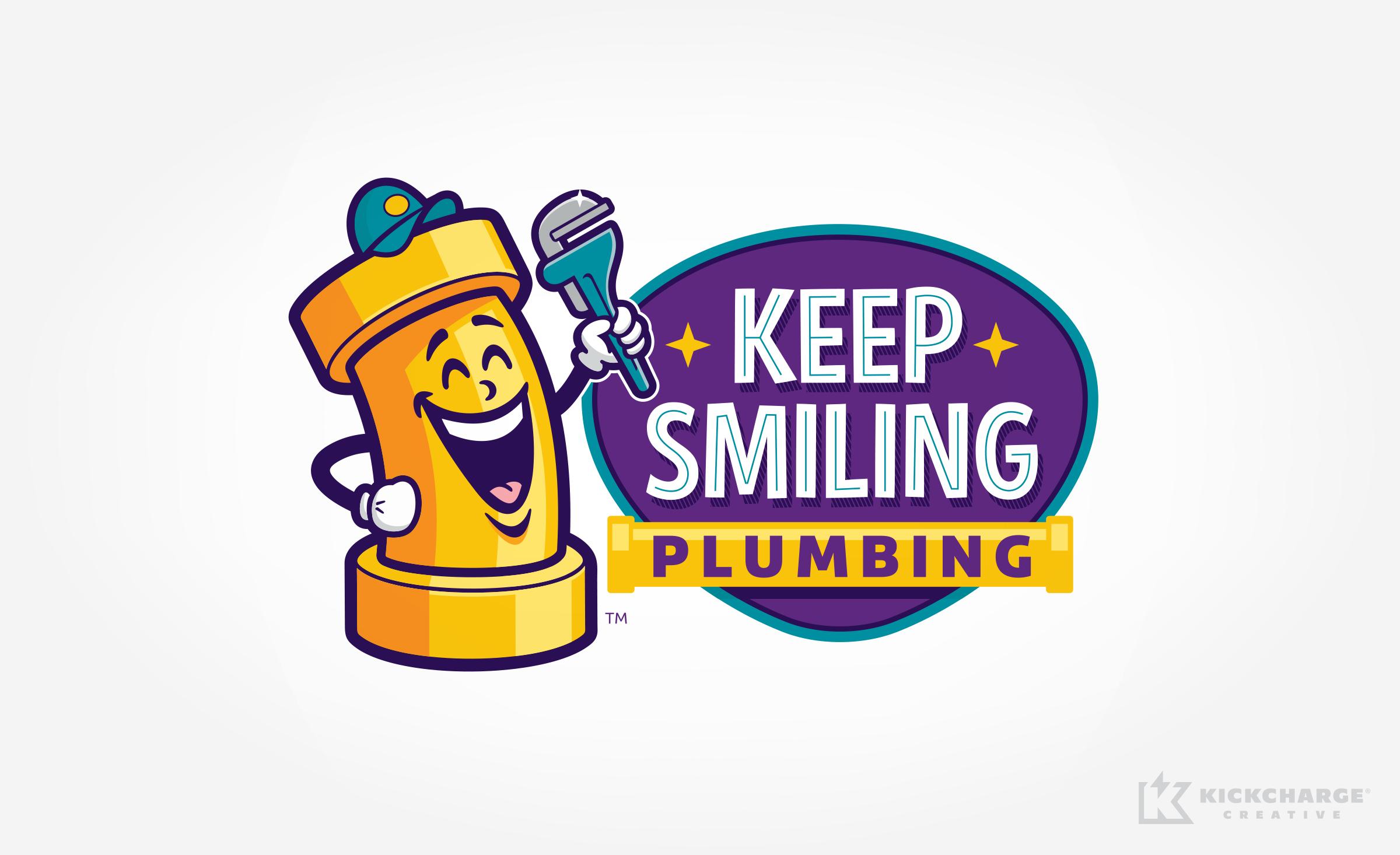 plumbing logo for Keep Smiling Plumbing