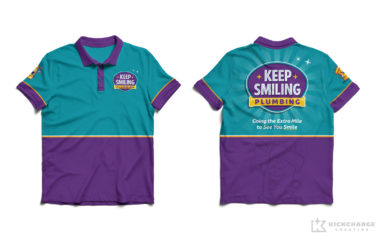 plumbing uniforms for Keep Smiling Plumbing