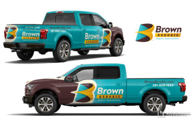 truck wrap design for Brown Aerobic