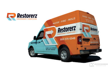 truck wrap design for Restorerz
