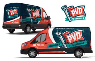 plumbing truck wrap for PVD Plumbing