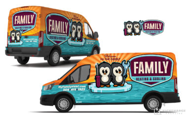 hvac truck wrap for Family Heating & Cooling