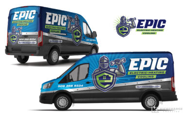 hvac truck wrap for Epic Electric, Heating & Cooling
