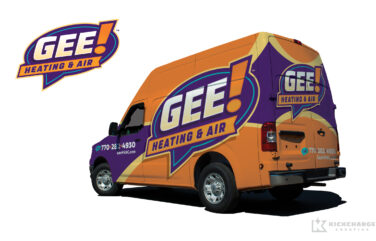 hvac truck wrap for Gee! Heating & Air