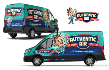 hvac truck wrap for Authentic Air Heating & Cooling