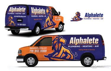 HVAC and Plumbing Truck Wrap for Alphalete Plumbing, Heating & Air