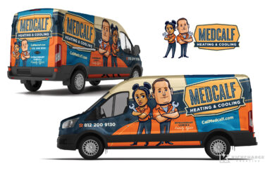 hvac truck wrap for Medcalf Heating & Cooling