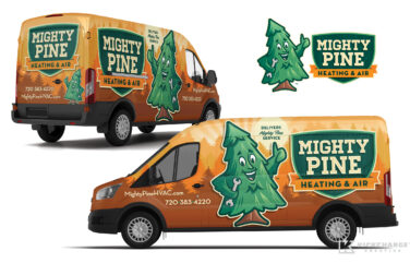 hvac truck wrap for Mighty Pine Heating & Air